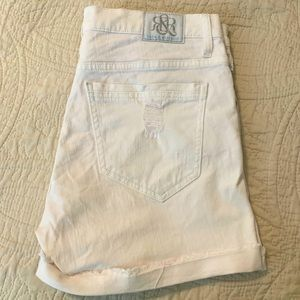 Rock & Republic Bumpershoot White Jean Shorts